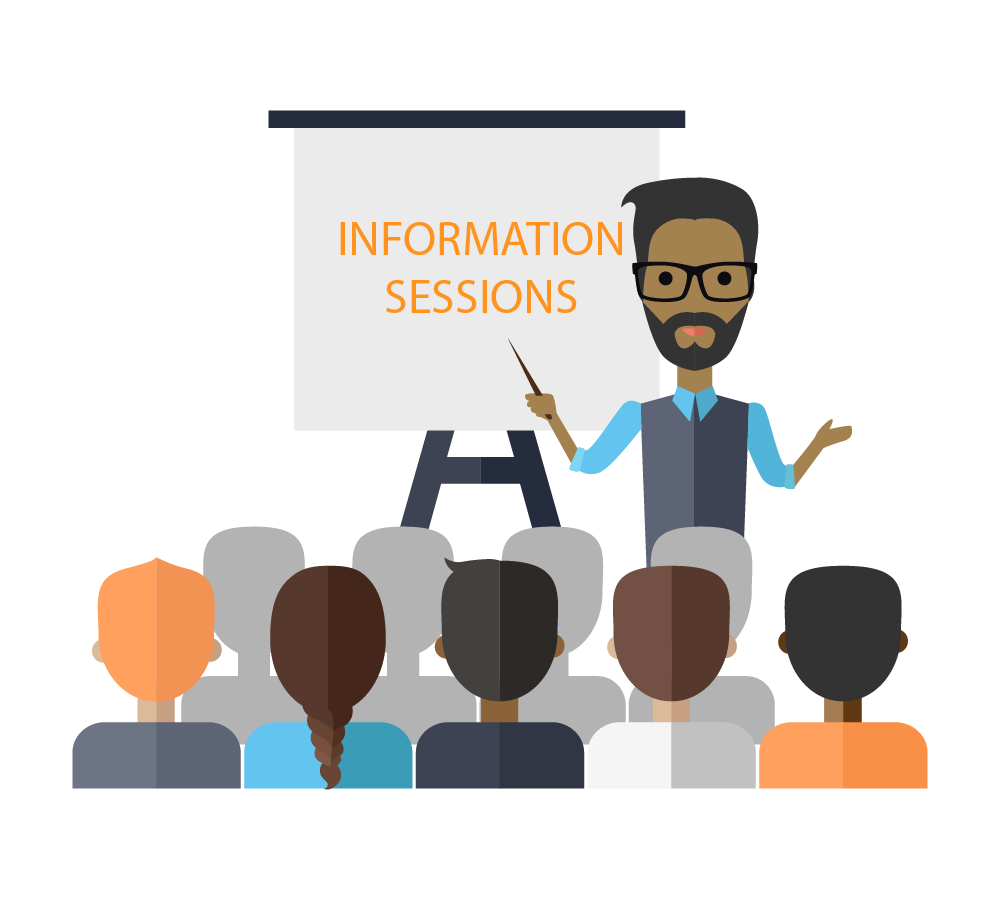 Information session presenter